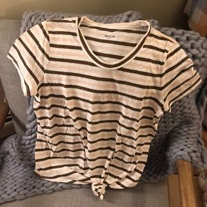 Madewell Small Striped Audio Knot Tee T Shirt